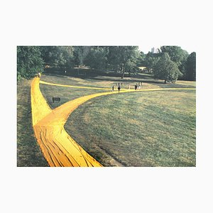 Christo, Wrapped Walk Ways, Loose Park in Kansas City, Photo Offset, 1991