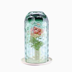 Mittlere Grüne OP-Vase von Bilge Nur Saltik