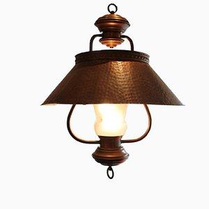 Lámpara colgante italiana de latón, años 50