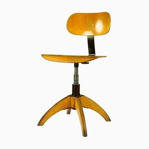 Sedia da scrivania Bauhaus Mid-Century con altezza regolabile di Böhler