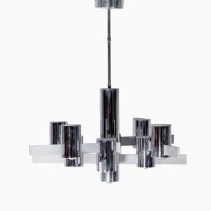 Lámpara de araña italiana cúbica de Gaetano Sciolari