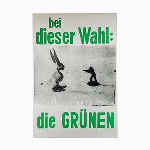 Póster de campaña Die Grünen de Joseph Beuys, 1979