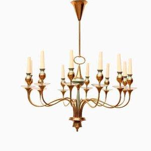 Lampada da soffitto in ottone di Stilnovo