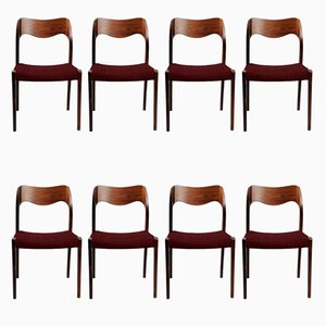 Customizable Rosewood Dining Chairs by Niels Otto Møller ,1960s, Set of 8