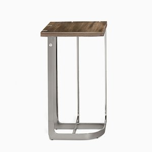 Stainless Steel Mondrian Side Table 32x32 by 15 West Studio