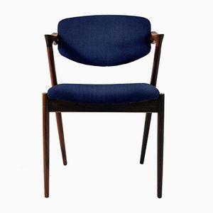Sedie da pranzo in palissandro personalizzabili di Kai Kristiansen, anni '60, set di 8