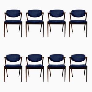 Chaises de Salon Personnalisables en Palissandre par Kai Kristiansen, 1960s, Set de 8
