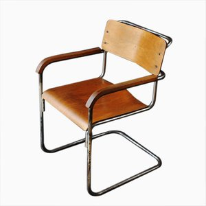 B34 Plywood Chair by Marcel Breuer