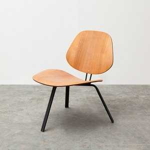 Niedriger P31 Stuhl aus Teak von Osvaldo Borsani für Tecno