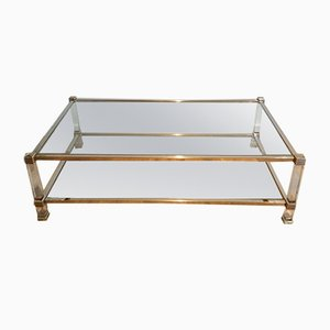 Chrome & Lucite Coffee Table, 1970s