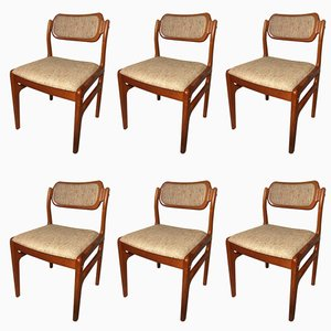 Teak Chairs by Johannes Andersen for Uldum, 1960s, Set of 6