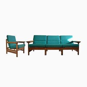 Modulares dänisches Mid-Century Lounge Set