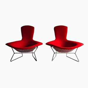 High Back Bird Chairs by Harry Bertoia for Knoll, 1980s, Set of 2