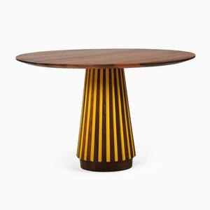 Table de Salle à Manger Série Sefefo Color avec Bord Peint par Patricia Urquiola pour Mabeo
