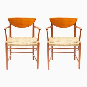 Mid-Century Teak Dining Chairs by Peter Hvidt & Orla Mølgaard-Nielsen for Søborg Møbelfabrik, Set of 2