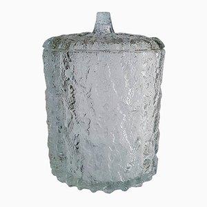 Großer italienischer Vintage Eiskübel aus Glas