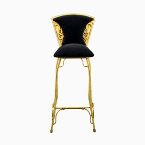 Mid-Century Gilded Cobra Bar Stools, 1970s, Set of 10