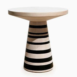 Thuthu Stool with Painted Stripes by Patty Johnson