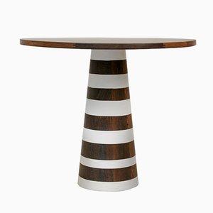 tavolo Thuthu con strisce verniciate di Patty Johnson per Mabeo