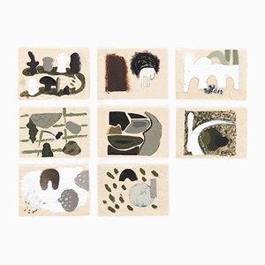 Trapunta dipinta a mano Horse, Moon and Hill edizione limitata di Faye Toogood per Once Milano, 2017