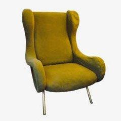Senior Sessel in Grün von Marco Zanuso für Artflex, 1950er