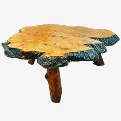 Tavolino da caffè creato da un tronco Frank Armich, anni '60
