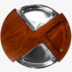 Swedish Teak Serving Tray, 1960s