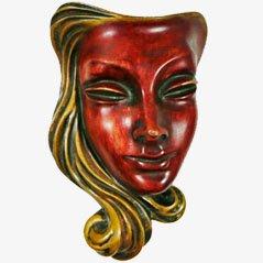 Wandmaske von Hans Schirmer für Achatit-Werkstätten
