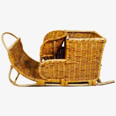 Rattan Children's Sledge, 1950s