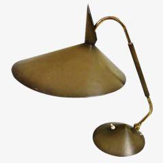 Vintage Messing Tischlampe, 1950er