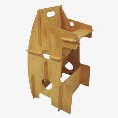 Multifunktionaler Kinder-Hochstuhl und Schreibtisch aus Sperrholz