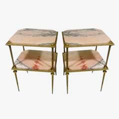 Brutalist Side Tables, 1960s, Set of 2
