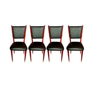 Italienische Vintage Stühle, 1940er, 4er Set