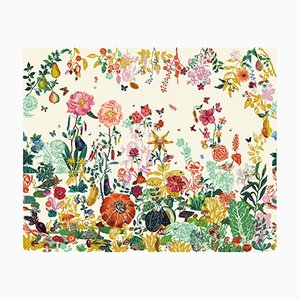 Jardin Crème Wall Covering by Nathalie Lété for Moustache, 2018
