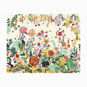 Jardin Crème Wallpaper by Nathalie Lété for Moustache, 2018
