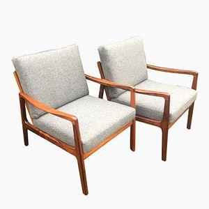Mid-Century Modell 119 Armlehnstühle aus Palisander von Ole Wanscher für France & Son, 2er Set