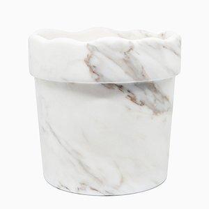 Vase mit gewelltem Rand aus Paonazzo Marmor von FiammettaV Home Collection