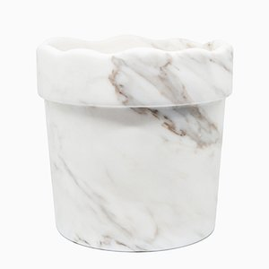 Vase with Wavy Edge in Paonazzo Marble from FiammettaV Home Collection