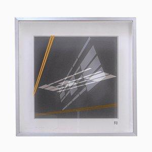 Sérigraphie sur Papier et Plexiglass par Grazia Varisco pour Nikol Art, 1973