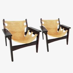 Rosewood Kilin Armchairs by Sergio Rodrigues, 1967, Set of 2