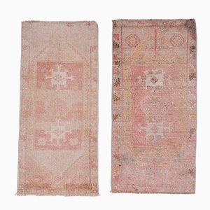Small Vintage Turkish Distressed Rugs, 1970s, Set of 2