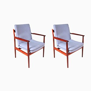 Model 341 Armchairs by Arne Vodder for Sibast, 1960s, Set of 2