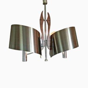Lámpara colgante francesa de Maison Charles et Fils, años 70