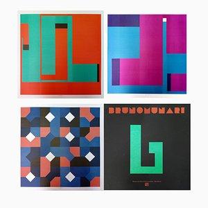 Litografie a colori di Bruno Munari, anni '90, set di 3