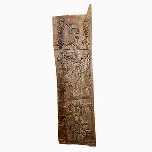 Porta grande antica africana in legno di Senufo, inizio XX secolo