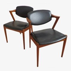 Model 42 Dining Chairs by Kai Kristiansen, 1950s, Set of 2