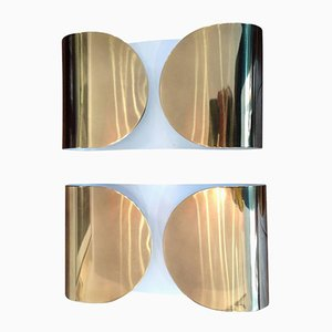 Bullicante Foglio Wandleuchten von Tobia & Afra Scarpa für Flos, 1960er, 2er Set