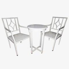 Juego de sillas y mesa auxiliar de Josef Hoffmann, 1910