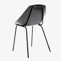 Coquillage Schwarze Stühle von Pierre Guariche für Meurop, 4er Set