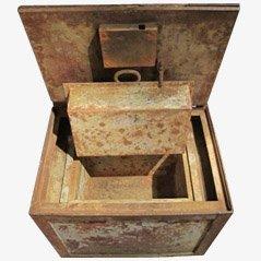 Caja fuerte industrial vintage